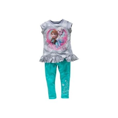 Dievčenský komplet DISNEY FROZEN tričko a legíny tyrkysové,    FASHION UK FRO0733|2