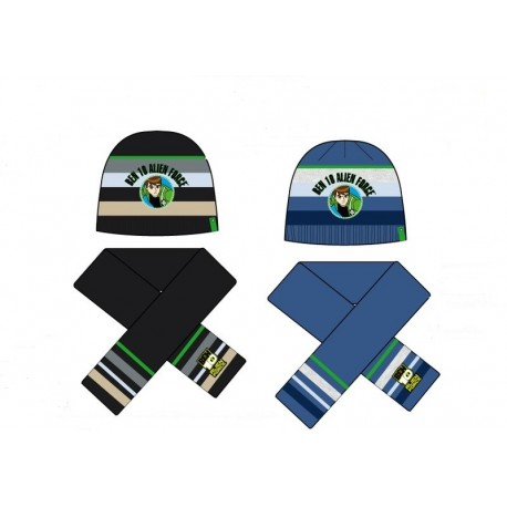 Detský zimný set BEN 10 (čiapka, šál),   ,    Sun City® GROUP BEN1998|52MO