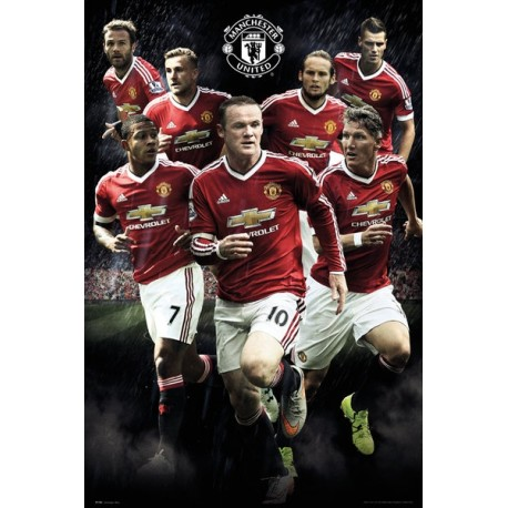 Plagát na stenu MANCHESTER UTD, Players, 61/91,5cm, SP1282 GB EYE MAN1739