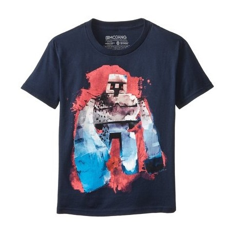 Pánske bavlnené tričko MINECRAFT Golem - L (large)