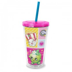 SHOPKINS - TERMO POHÁR so slamkou 475ml (3240)