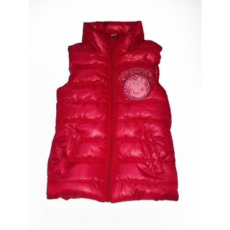 Dievčenská zateplená vesta PEPPA PIG ružová (EN6210) - 3 roky (98cm)