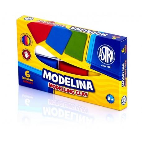 ASTRA Modelovacia hmota do rúry MODELINA 6ks, 83911901 ASTRA AST2988