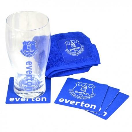 Sklenený pohár / minibar set FC EVERTON FOREVER COLLECTIBLES EVE1992