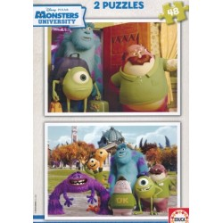 EDUCA Detské Puzzle MONSTERS UNIVERSITY 2 x 48ks (6104)