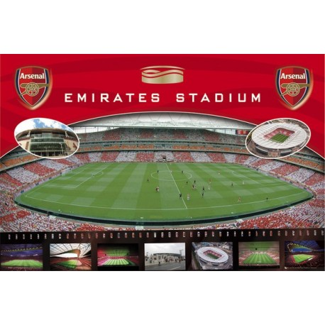 Plagát na stenu ARSENAL, Stadium, 61/91,5cm, SP0384 GB EYE ARS1471