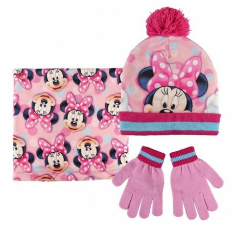 Detský zimný set (čiapka, nákrčník, rukavice) MINNIE MOUSE, 2200002550 CERDÁ MIN0842