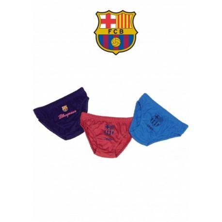 Chlapčenské bavlnené slipy 3ks FC BARCELONA (BC01031) - 4 roky (104cm)