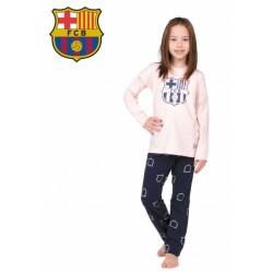 Dievčenské bavlnené pyžamo FC BARCELONA (BC03192)