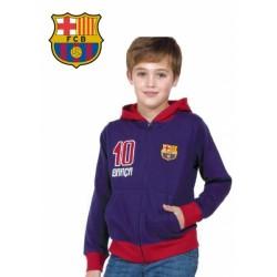 Chlapčenská bavlnená mikina na zips FC BARCELONA (BC06540)