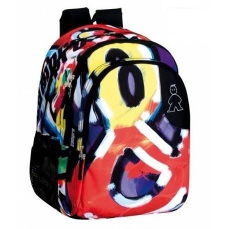 Dvojkomorový školský batoh CAMPRO 43cm MONTICHELVO MIX2979