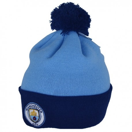 Zimná úpletová čiapka MANCHESTER CITY Bobble FOREVER COLLECTIBLES MNC1820