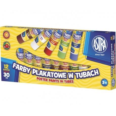 ASTRA Temperové farby v tube 12x30ml, 83110901 ASTRA AST2018