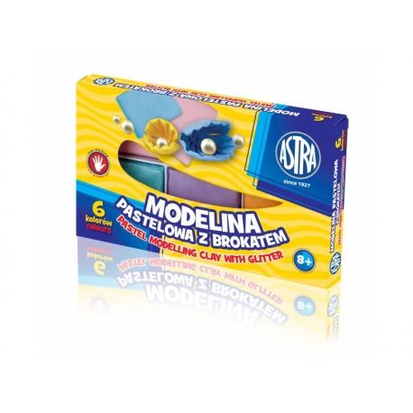 ASTRA Modelovacia hmota do rúry MODELINA pastelová s trblietkami 6ks, 304118001 ASTRA AST2181